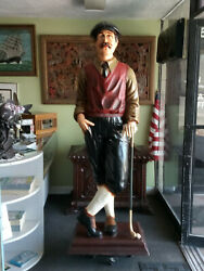 Golfer Statue  Life Size Figure 6' 1/2 Tall Style Of Fashion 1930's