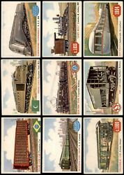 1955 Topps Rails And Sails Almost Complete Master Set 3.5 - Vg+