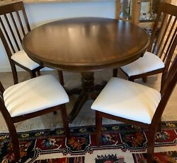 Dark Brown Wooden Table And 4 Chairs No Shipping Only Local Puck Up