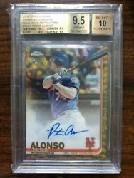 Pete Alonso Rc - Gold Wave Refractor Autograph - 2019 Topps Chrome - Bgs 9.5/10
