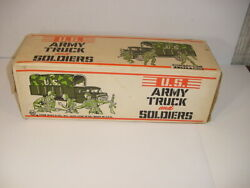 Wow 1950's Vintage Marx Us Army Truck And Soldiers Set 1170a Nib Unopened