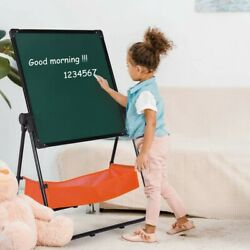 Kids 2 In 1 Art Easel Standing 360anddeg Rotating Drawing Painting Easels W/holder