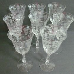 Cambridge Rose Point Clear Set Of 8 Water Goblets