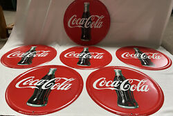 """Coca Cola Vintage Tin 12"""" Signs Reproduction Lot Of 6"""