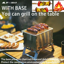 Especially For You Camping Stove Barbecue Grill Titanium Wood Stove