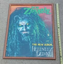 Rob Zombie Full Band Signed Hellbilly Deluxe Record Store Promo Poster Proof Vtg
