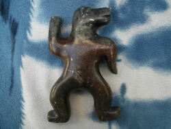 Inuit Art George Arlook Canadian Inuk Dancing Bear Sculpture Signed And Dated