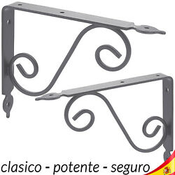Support Square Metallic Angle Classic For Riding Shelf Shelves In Wall