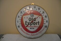 Orig. Old Export Beer Thermometer Sign 10 Glass Bubble Cumberland Md Brewing Md