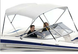 Shademate 80165 White Bimini Top Poly Fabric/boot Only3bow 5and039lx32h73-78w-new