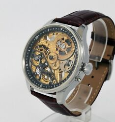 Skeleton Watch Based On Vacheron Constantin 17j Movement From 1907 Guilloche