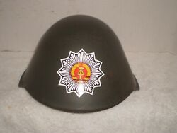 Post Ww2 East German Ddr M56 Helmet With Decal,,,