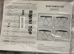 Kohree 3 Bow Bimini Top Boat Cover With Rear Support Pole And 73-78 Grey R117