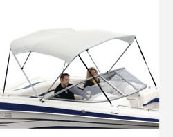 Shademate 80231 Wht White Bimini Poly Top/boot Only3bow61-66andrdquowx6andrsquol46/45andrdquoh-new
