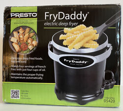 Presto Fry Daddy 05420 Electric Deep Fryer With Lid And Lift And Drain Scoop Nib