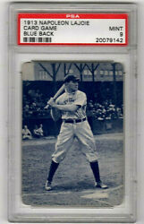 Napoleon Lajoie 1913 Card Game Blue Back Inducted In The Hof 1937 Psa 9 Mint