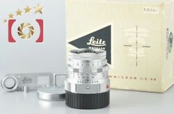Very Good Leica Dr Summicron 50mm F/2 Early Model Leica M Mount W/ Goggles