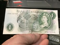 1970-1977 Bank Of England 1 One Pound - World Banknote W/1975 Conversion Chart