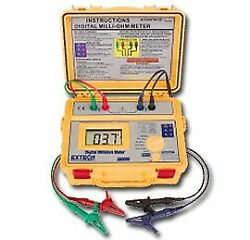 Extech 380580-nist High Accuracy Battery Powered Milliohm Meter,
