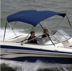 Shademate 80183 Royal Bimini Top Poly Fabric/bootno Frame3bow,5'l,32h,85-90w