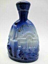 Rare Antique Damask Blue And White Decanter Magical Bottle - Kitchen Decanters
