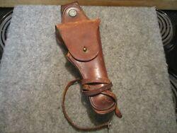 Rare Original Ww1 Us Cavalry 1911 .45 Acp Leather Holster Abercrombie And Fitch