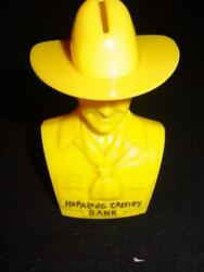 Vtg Hopalong Cassidy Bank - 1950's Sold In Stores - No Ads On Back - Rare Yellow
