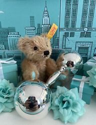 """Tiffanyandco Barbell Baby Rattle Dumbbell Teether Sterling Silver Large 5"""" W Box"""