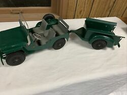 Marx Willys Jeep And Trailer
