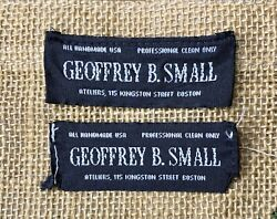 Rare Geoffrey B. Small Clothing Labels X2 Removed From Gbs Vintage Garments