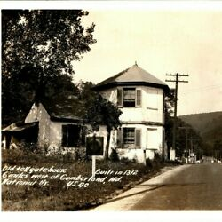 Sharp C1940s Cumberland Md Toll Hate House Hwy 40 Real Photo Amoco Esso A7