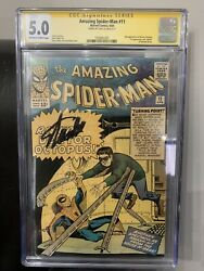 Amazing Spider-man 11 Cgc Ss 6.0 2nd Doctor Octopus Signed By Stan Lee