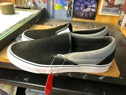 Classic Slip On Suede Suiting Black Grey Size Us 11.5 Men Rare Vn0a4bv3v3e
