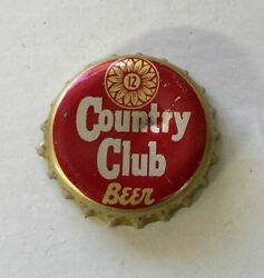 Cap Crown Country Club Can Bottle Flat Top Cone Ale Tin Ale Brewing Kansas Tax