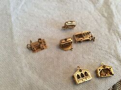11 Antiquegold And One Silver Stan Hope Charms ,