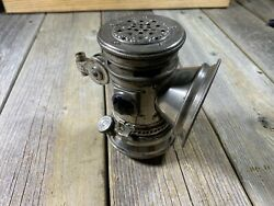 Antique Bike Bicycle Carbide Lamp Lantern Search Light Usa Used Untested Vintage