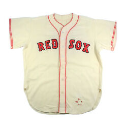 Ted Williams Boston Red Sox Vintage Flannel Mcauliffe Game Jersey Original Shell