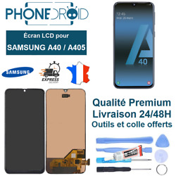 Andeacutecran Complet Lcd + Tactile Samsung A40 A405 + Outils Stock Fr