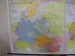 Wall Map Central Europe 1914-1967 206x199 Vintage Bloody Wars History Maps