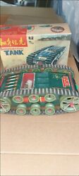 Red China Rare Tank Battery Operated Tin Toy Vintage