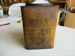 Vintage Moco Oil Grease Can 5 Lb Size Rex Hard Oil Lot 21-39-15