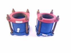 Lot Of 2 Smith-blair 4 Type 441 Pipe Couplings Couplers 22392 4.00 - 4.86