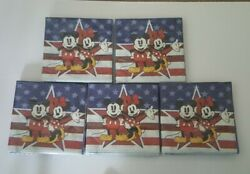 New Disney Mickey And Minnie Mouse Usa Set Of Napkins 5 Packs