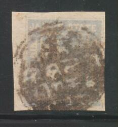 India Jaipur State 1904 Chariot, 1/2an. Grey Blue Sg2a Imperf Used Stamp Rare.