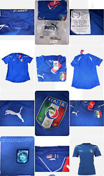 Italia  Italy Women's Home Soccer Jersey Large Italia Authentic With Hologr