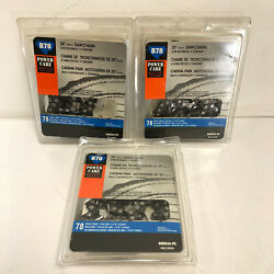 Lot 3 Pack Powercare 20 In. B78 Semi Chisel Chainsaw Chain 462-742 600544-pc