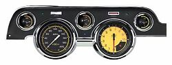 Classic Instruments 1967 - 68 Ford Mustang Gauge Cluster Autocross Yellow Mu67ax