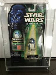 Star Wars R2d2 Kenny Baker Autographed Figures With Acrylic Case
