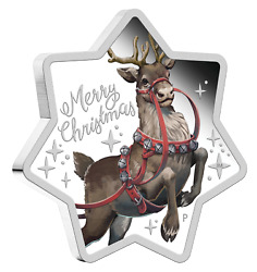 2019 Australia 1 Christmas Reindeer 1oz Silver Proof Coin 999 Silver Decoration