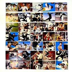 Bruce Lee Vintage 35 Card Lot Japan 1974 Towa Trading Cards Menko Excellent F/s